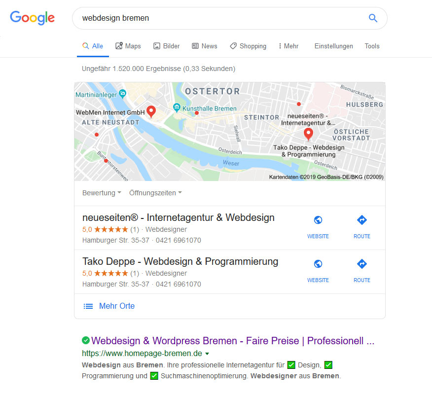 Suchmaschinenoptimierung SEO Bremen